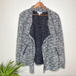 Motherhood Knitted Waterfall Cardigan Sweater